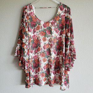 SMYM Floral Shift Mini Dress M L